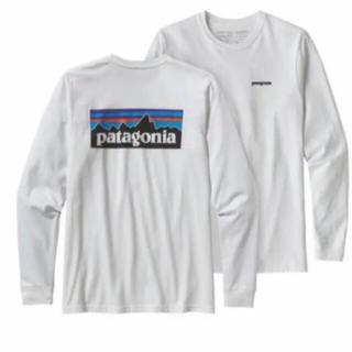 パタゴニア(patagonia)のパタゴニア ロングスリーブ・P-6ロゴ・レスポンシビリティー ロンT 白 L新品(Tシャツ/カットソー(七分/長袖))