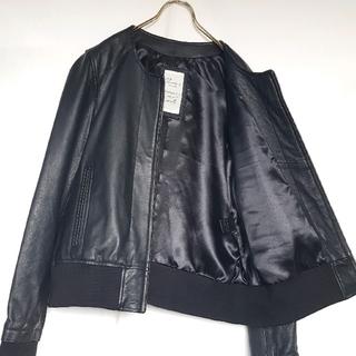 ★JTP LEATHER KOBE ノーカラー シープスキン レザージャケット(ノーカラージャケット)