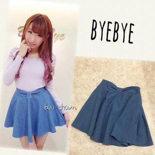 ByeBye - ByeBye♡ウエストリボンフレアスカート