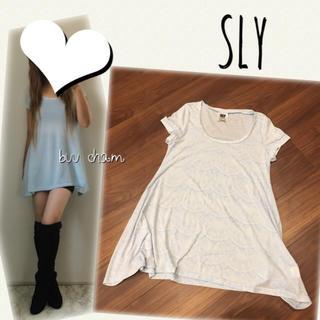 スライ(SLY)のSLY♡レース柄チュニック(Tシャツ(半袖/袖なし))