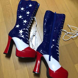 レッグアベニュー(Leg Avenue)のハロウィン FANTAISMA コスチューム アメリカ ブーツ(ブーツ)
