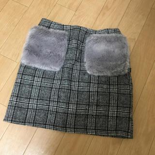 GRL - GRL ファーポケット チェック スカート