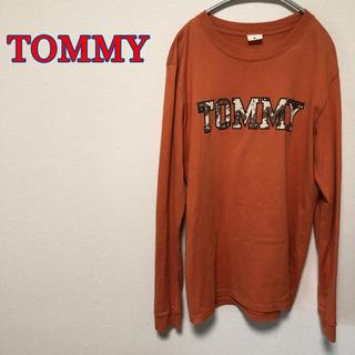 トミー(TOMMY)の激レア TOMMY トミー ビッグロゴ 長袖 Tシャツ トップス オレンジ ロゴ(Tシャツ/カットソー(七分/長袖))