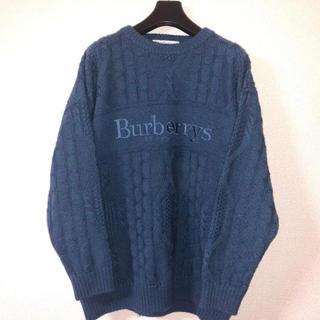 BURBERRY - Vintage Burberrys of london Knit navy