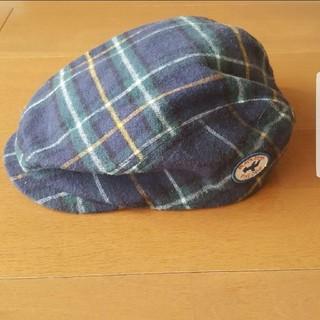 ミキハウス(mikihouse)の【美品】ミキハウスブラックベア ハンチング 帽子(帽子)