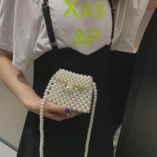 スタイルナンダ(STYLENANDA)の【新品未使用】オールパール真珠編みショルダーバッグ (ショルダーバッグ)
