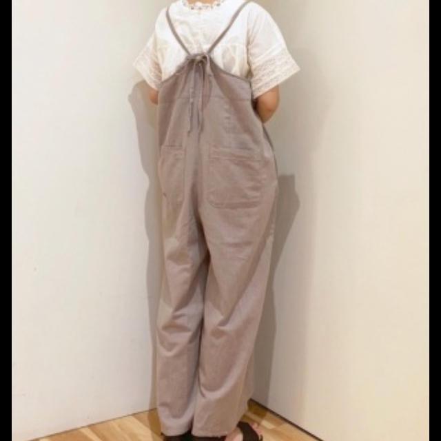 SM2(サマンサモスモス)の新品★サマンサモスモス 綿麻キャミサロペット キナリ オールインワン レディースのパンツ(サロペット/オーバーオール)の商品写真