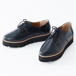 シマムラ(しまむら)のしまむら プチプラのあや 厚底レースアップシューズ(ローファー/革靴)
