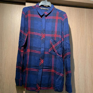 ザラ(ZARA)の【ZARA】青×赤 チェックシャツ(シャツ/ブラウス(長袖/七分))