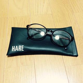 ハレ(HARE)の伊達眼鏡(ケース付き)(サングラス/メガネ)