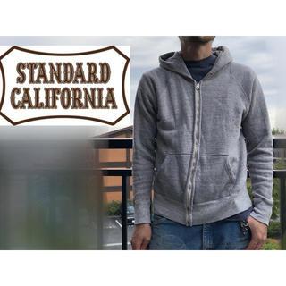 スタンダードカリフォルニア(STANDARD CALIFORNIA)のスタンダードカリフォルニア 霜降りパーカー フルジップ スタカリ スウェット(パーカー)