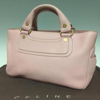 celine - CELINE ピンク レザー ブギーバッグ ヴィンテージ ハンドバッグ セリーヌ