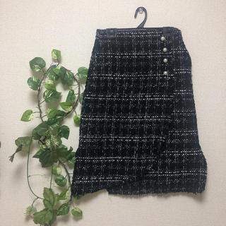 ザラ(ZARA)のZARA ツイード膝丈スカート(ひざ丈スカート)