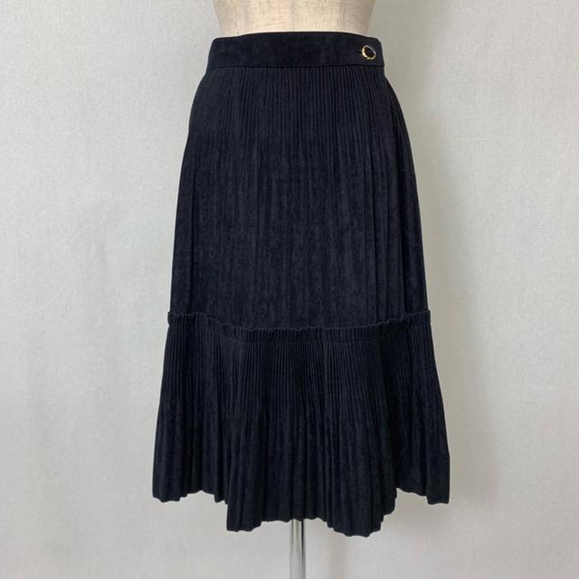 ●S400 used suede touch pleats wrap skirt レディースのスカート(ロングスカート)の商品写真