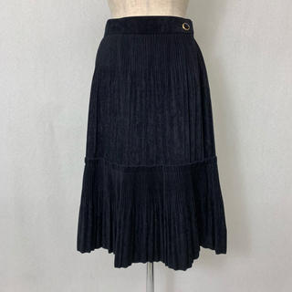 ●S400 used suede touch pleats wrap skirt(ロングスカート)