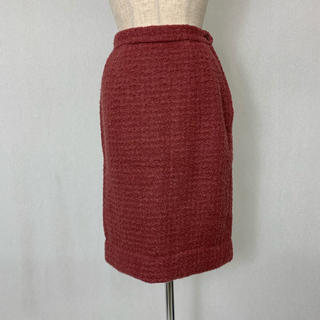 ●S401 used smoky pink skirt(ひざ丈スカート)