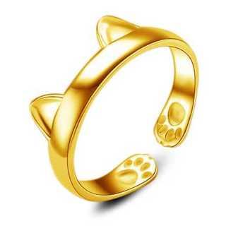 可愛い猫耳リング(ゴールド) 11号(リング(指輪))