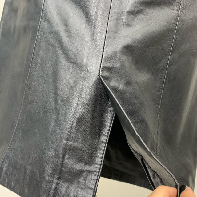 ●S403 used real leather skirt レディースのスカート(ひざ丈スカート)の商品写真