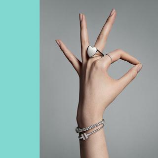 ティファニー(Tiffany & Co.)のTiffany ダブル モダン ハート リング(リング(指輪))