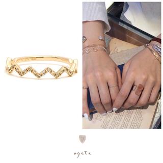 アガット(agete)のAgete♡ダイヤモンド♡ギザギザリング♡K10♡YG♡アガット♡廃盤(リング(指輪))
