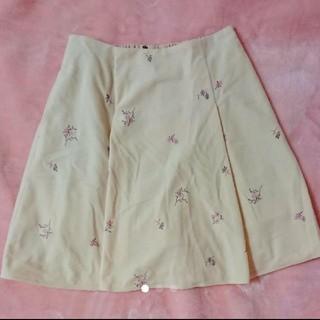 マジェスティックレゴン(MAJESTIC LEGON)のマジェスティックレゴン 刺繍スカート(ひざ丈スカート)