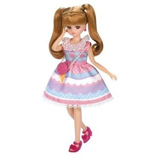 タカラトミー(Takara Tomy)の新品 リカちゃんの洋服 カラフルアイスパーティー(ぬいぐるみ/人形)