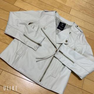 ダブルクローゼット(w closet)のWcloset エコレザーライダースジャケット(ライダースジャケット)