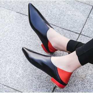 【LONDA】ソフトレザーフラットローファー(E-197)(ローファー/革靴)