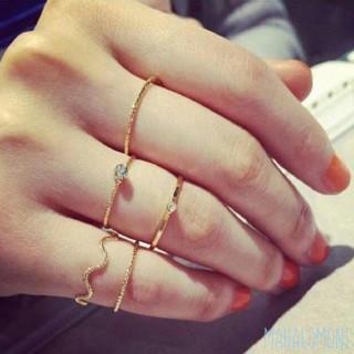 5点セット 装飾 リング ゴールド ファランジリング ミディリング 上品 キレイ(リング(指輪))