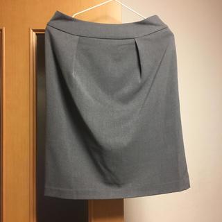 オペークドットクリップ(OPAQUE.CLIP)の膝丈スカート グレー(ひざ丈スカート)