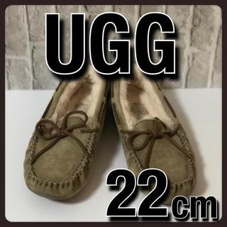 アグ(UGG)のUGG アグ モカシン フラット シューズ  ベージュ 22cm(スリッポン/モカシン)