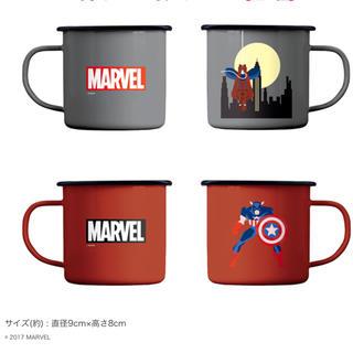 マーベル(MARVEL)の2点セットが安い ★ スパイダーマン ホーロー製マグカップ アベンジャーズ(アメコミ)