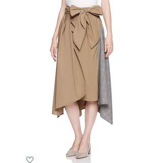 フレイアイディー(FRAY I.D)のフレイアイディー タックアシメヘムスカート(ロングスカート)