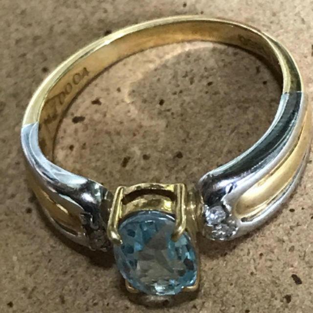 ジュエリーマキ(ジュエリーマキ)のジュエリーマキ K18 プラチナ ダイヤモンド0.04ct  リング 指輪  レディースのアクセサリー(リング(指輪))の商品写真