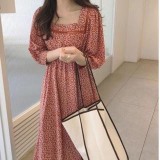 dholic - 韓国ファッション ワンピース赤