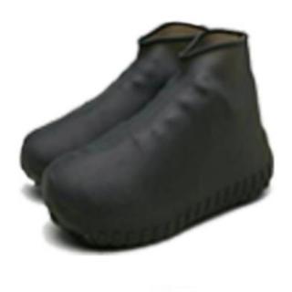 レイン シューズ シリコン 靴 雨 ブラック 黒(長靴/レインシューズ)