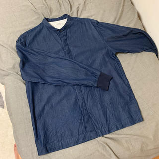 MUJI (無印良品) - 無印良品 ノーカラー デニムシャツ
