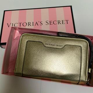ヴィクトリアズシークレット(Victoria's Secret)の【新品】ヴィクトリアシークレット スマホケース ゴールド(iPhoneケース)