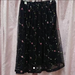 しまむら - 刺繍チュールスカート