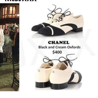 シャネル(CHANEL)のCHANEL レースアップシューズ(ローファー/革靴)
