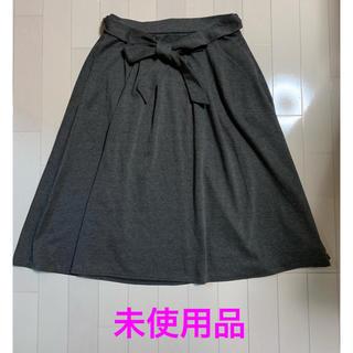 未使用☆ フレアースカート グレー L(ひざ丈スカート)