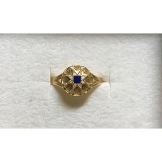 アガット(agete)のmederu jewelry メデルジュエリー k18 ラピスラズリリング(リング(指輪))