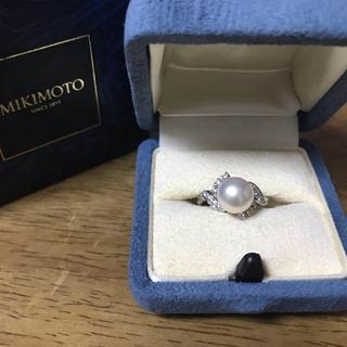 ミキモト(MIKIMOTO)のミキモト 御木本 パールダイヤモンドリング  アコヤ真珠8.5㎜ 9号(リング(指輪))