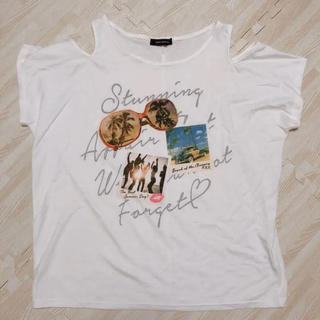 ショルダーカット オープンショルダー トップス(Tシャツ(半袖/袖なし))
