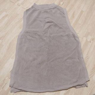 サマンサモスモス(SM2)のハイネック ノースリーブ トップス(カットソー(半袖/袖なし))