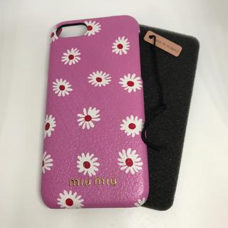 ミュウミュウ(miumiu)のmiumiu ミュウミュウ iPhoneケース 6 7 8 対応 【新品未使用】(iPhoneケース)