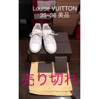 ルイヴィトン(LOUIS VUITTON)のLouise VUITTON モノグラムレザースニーカー 35.36 美品(スニーカー)