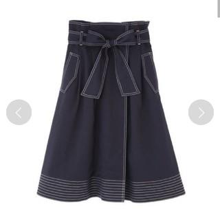 ジルバイジルスチュアート(JILL by JILLSTUART)のバイカラーステッチスカート(ひざ丈スカート)