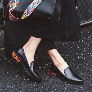 【LONDA】サマーフラットスプリングシューズ(E-195)(ローファー/革靴)