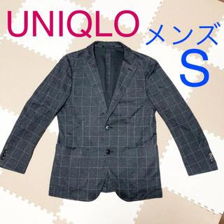 ユニクロ(UNIQLO)の 【美品】ユニクロ メンズ チェック テーラードジャケット Sサイズ(テーラードジャケット)